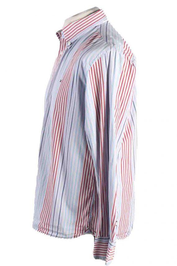 Vintage Mens Tommy Hilfiger Stripe Long Sleeve Shirts L Multi SH3865-114614
