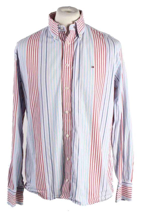 Vintage Mens Tommy Hilfiger Stripe Long Sleeve Shirts L Multi SH3865-0