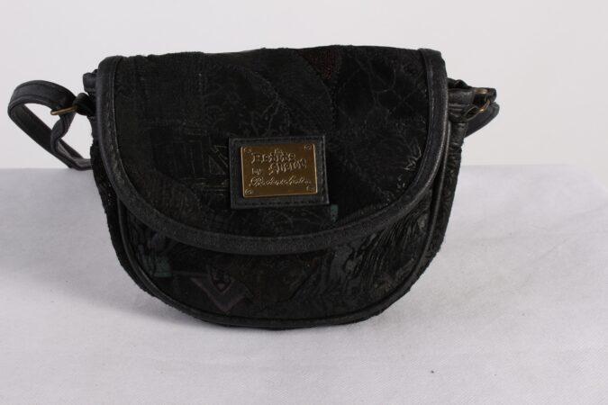 Vintage Womens Patchwork Printed Shoulder Messenger Mini Bag Black BG1035-0