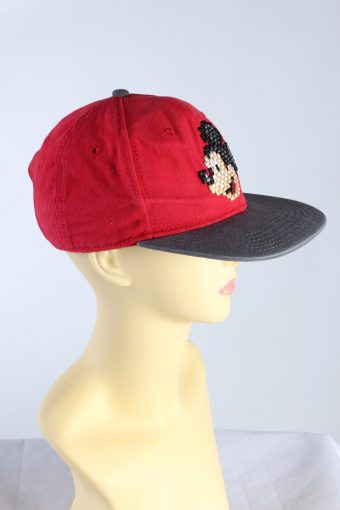 Vintage Disney Parks Authentic Original Mickey Printed Hat Red HAT432-115433