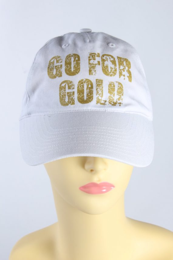 Vintage Adidas Go For Gold Hat 11/07 908446 One Size Fits White HAT434-0