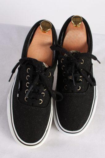 Vintage Vans Classical Trainer Sport Casual Shoes Unisex UK 6 Black