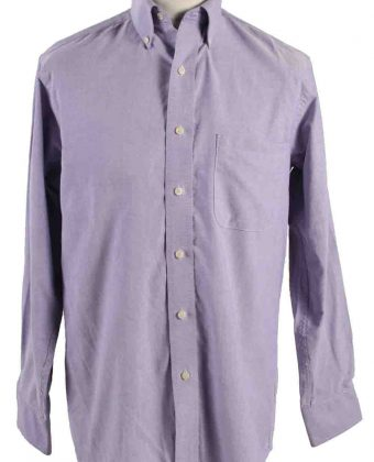 Vintage Mens Chaps Classic Fit Oxford Long Sleeve Shirts M Lilac SH3902-0