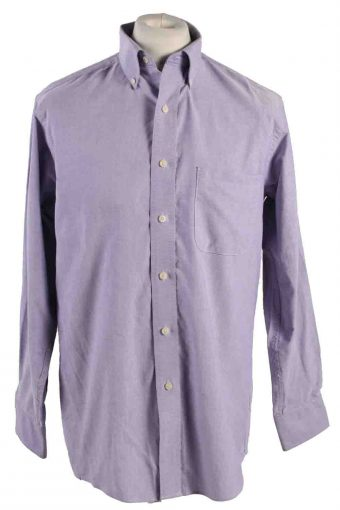 Mens Chaps Classic Fit Oxford Long Sleeve Shirts Lilac M