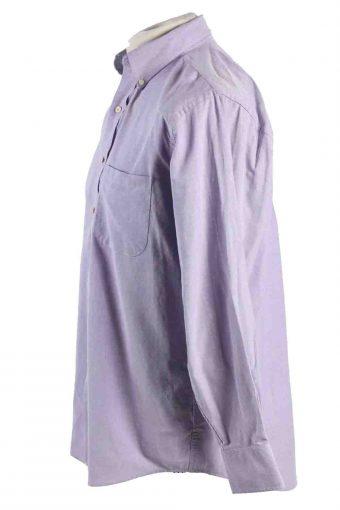 Vintage Mens Chaps Classic Fit Oxford Long Sleeve Shirts M Lilac SH3902-115148