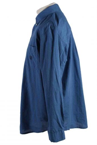 Vintage Mens Chaps Checkered Printed Long Sleeve Shirts L Blue SH3903-115152