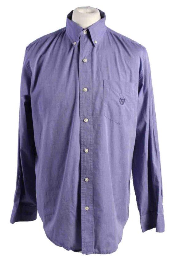 Vintage Mens Chaps Long Sleeve Shirts M Purple SH3904-0