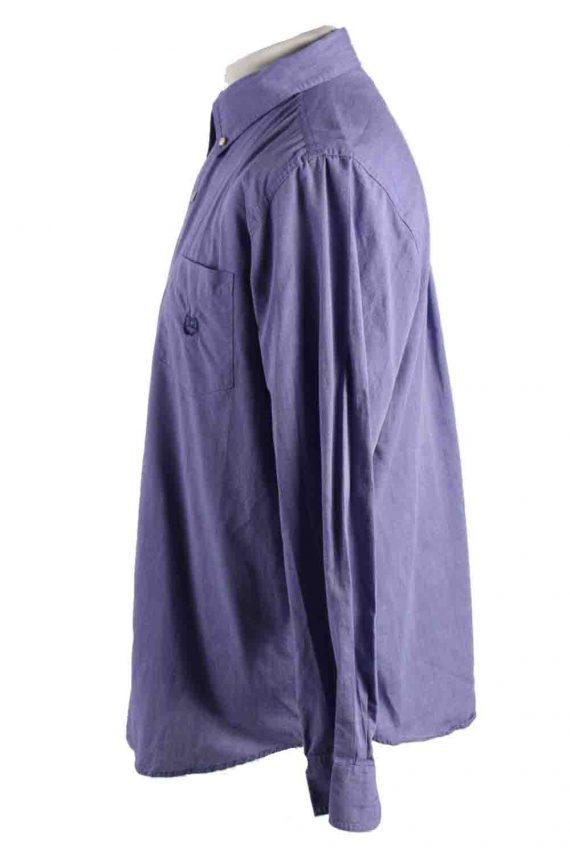 Vintage Mens Chaps Long Sleeve Shirts M Purple SH3904-115156