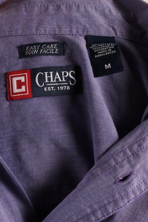 Vintage Mens Chaps Long Sleeve Shirts M Purple SH3904-115158