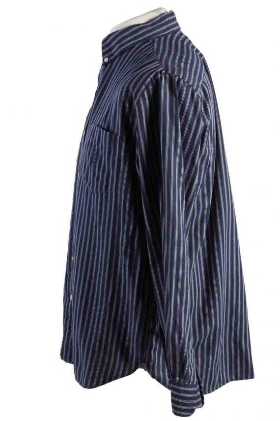 Vintage Mens Chaps Stripe Long Sleeve Shirts L Dark Blue SH3905-115160
