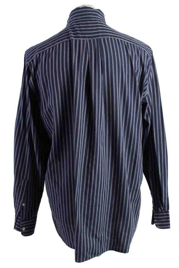 Vintage Mens Chaps Stripe Long Sleeve Shirts L Dark Blue SH3905-115161