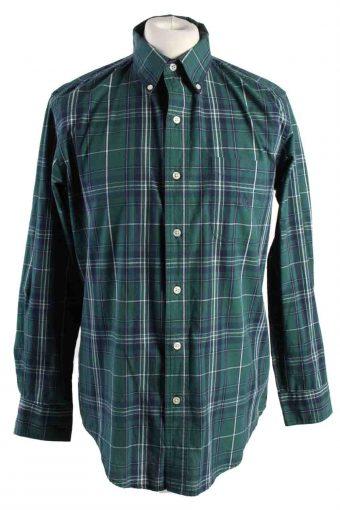 Mens Chaps Checke Printed Long Sleeve Shirts Green M