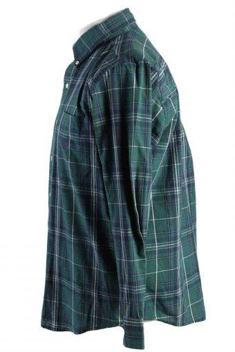 Vintage Mens Chaps Checkered Printed Long Sleeve Shirts M Green SH3906-115164