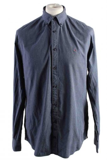 Mens Tommy Hilfiger New York Fit Cotton Long Sleeve Shirts Grey L