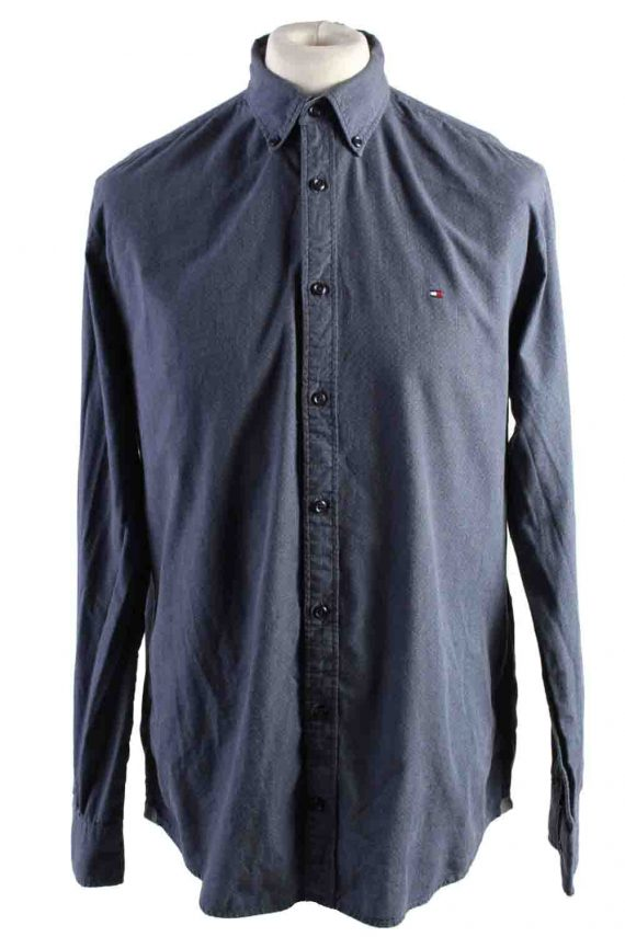 Vintage Mens Tommy Hilfiger New York Fit Cotton Long Sleeve Shirts L Grey SH3910-0