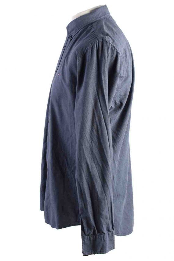 Vintage Mens Tommy Hilfiger New York Fit Cotton Long Sleeve Shirts L Grey SH3910-115180