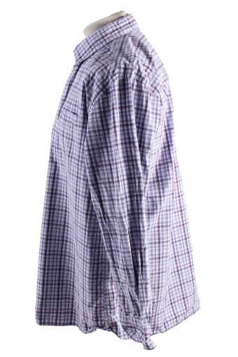 Vintage Mens Tommy Hilfiger Checkered Printed Long Sleeve Shirts XL Lilac SH3911-115184