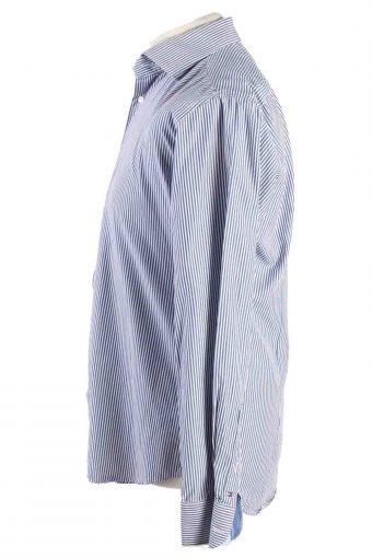 Vintage Mens Tommy Hilfiger Stripe Fitted Long Sleeve Shirts M Blue SH3912-115188