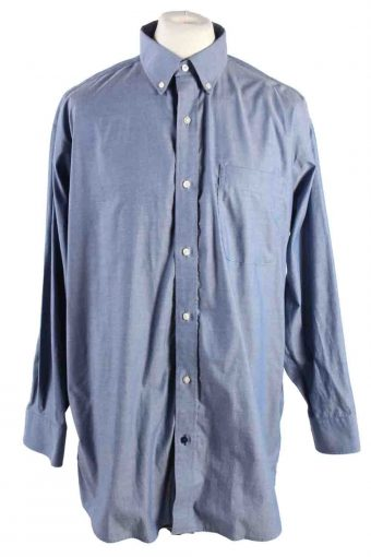 Mens Tommy Hilfiger Re Non Iron Long Sleeve Shirts Blue L