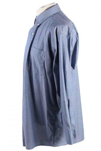 Vintage Mens Tommy Hilfiger Re Non Iron Long Sleeve Shirts L Blue SH3914-115196