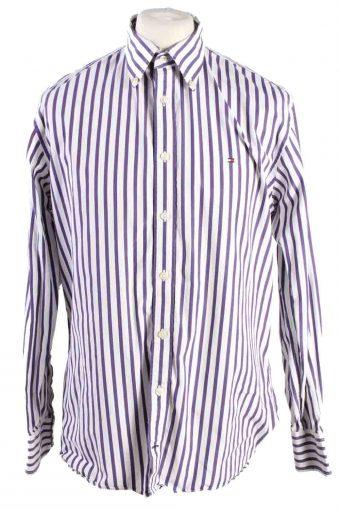 Mens Tommy Hilfiger Stripe Long Sleeve Shirts Purple L