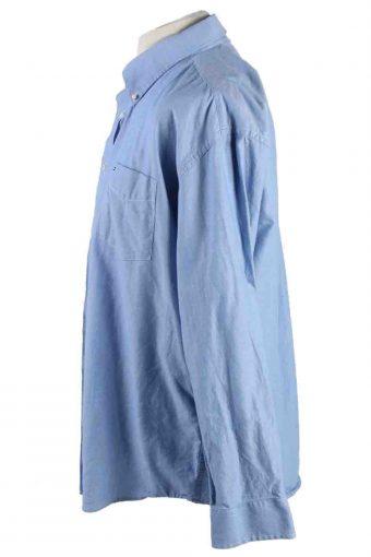 Vintage Mens Tommy Hilfiger Cotton Long Sleeve Shirts XL Blue SH3919-115216