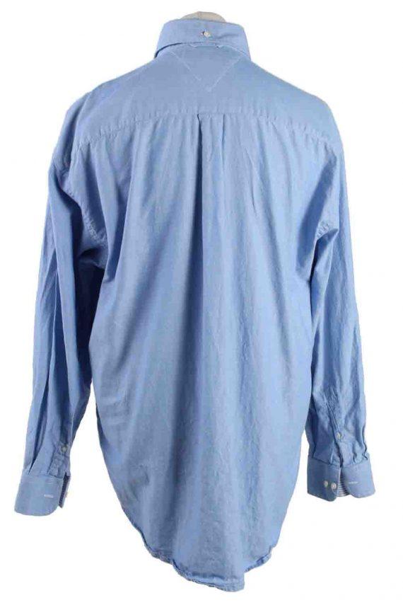 Vintage Mens Tommy Hilfiger Cotton Long Sleeve Shirts XL Blue SH3919-115217