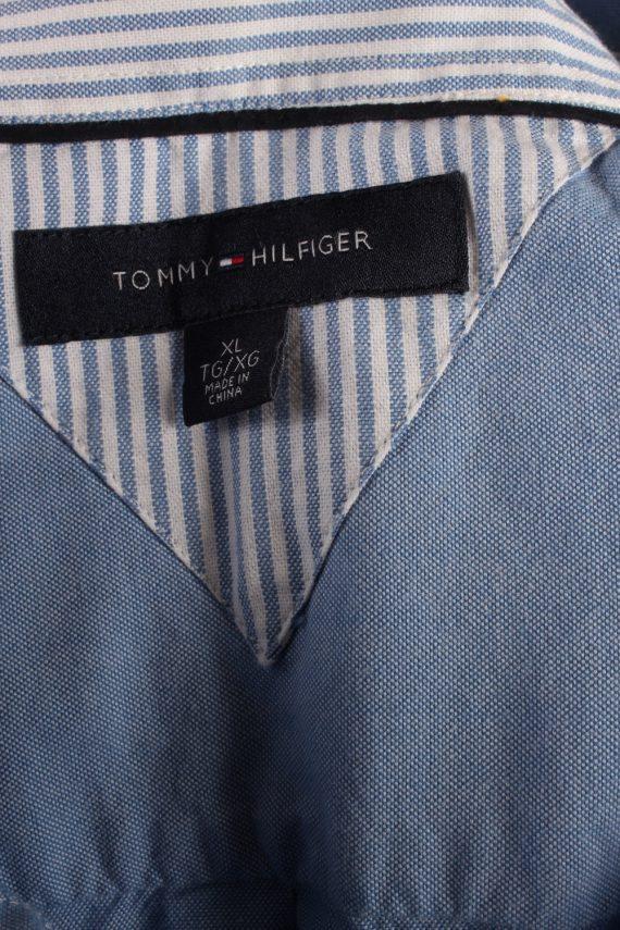 Vintage Mens Tommy Hilfiger Cotton Long Sleeve Shirts XL Blue SH3919-115218