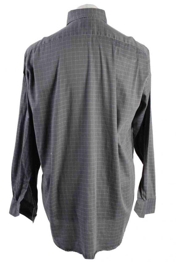 Vintage Mens Lacoste Checkered Printed Long Sleeve Shirts L Grey SH3928-115253