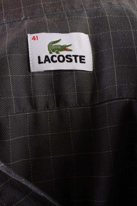 Vintage Mens Lacoste Checkered Printed Long Sleeve Shirts L Grey SH3928-115254