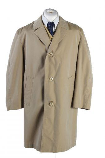 Vintage Alvy Classic Trench Coat Bust 48 Beige