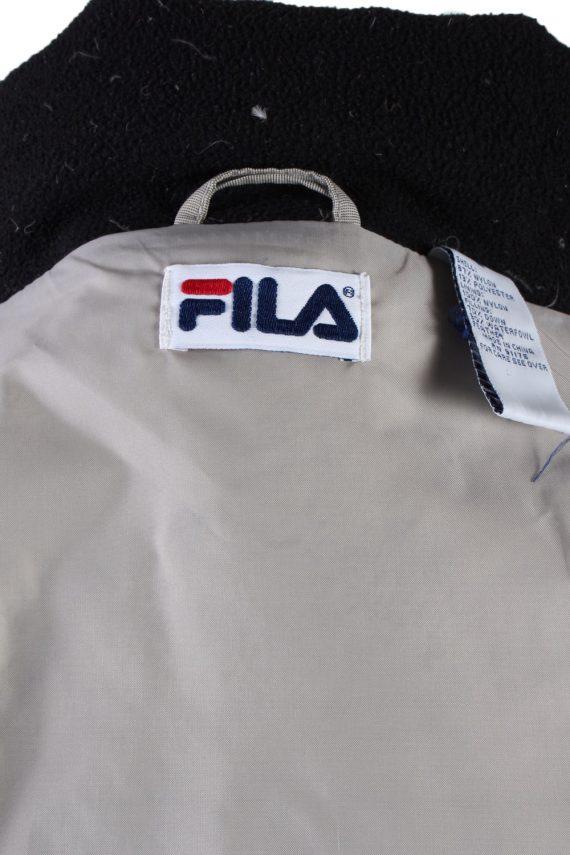 Vintage Fila Winter Puffer Coat S Ivory -C1540-116777