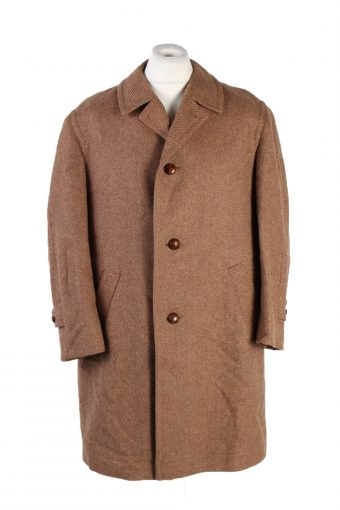 Vintage Werther Wool Classic Coat Chest 50 inches Brown