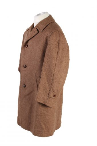 Vintage Werther Wool Classic Coat Chest 50 inches Brown -C1550-116815