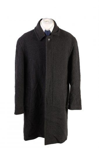 Vintage Wool&Cashmere Classic Jacket Coat Chest 50 Black