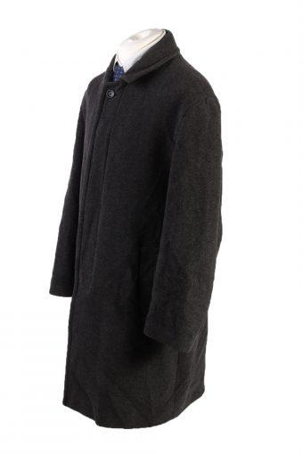 Vintage Wool&Cashmere Classic Jacket Coat Chest 50 Black -C1554-116903
