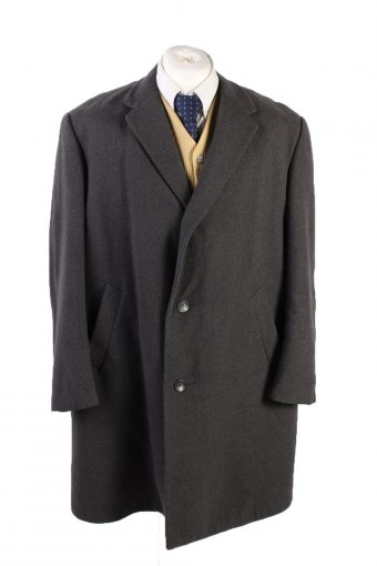Vintage Reine Wolle Classic Jacket Coat Chest 49 Grey