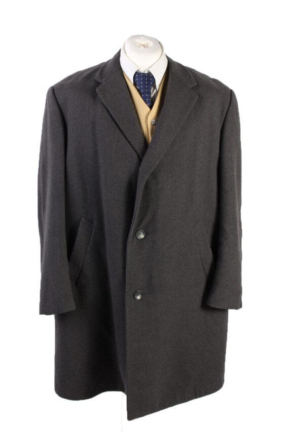 Vintage Reine Wolle Classic Jacket Coat Chest 49 Grey -C1561-0