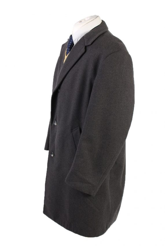 Vintage Reine Wolle Classic Jacket Coat Chest 49 Grey -C1561-116938