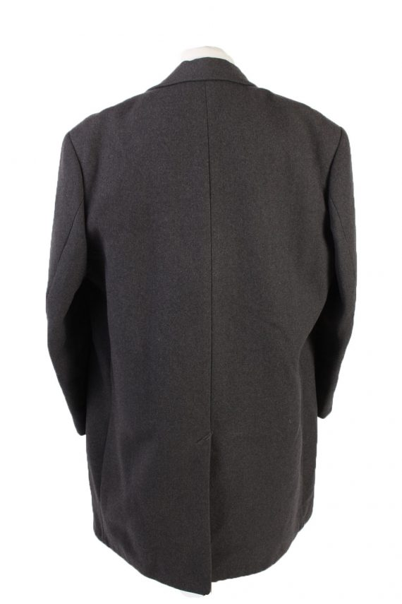 Vintage Reine Wolle Classic Jacket Coat Chest 49 Grey -C1561-116939