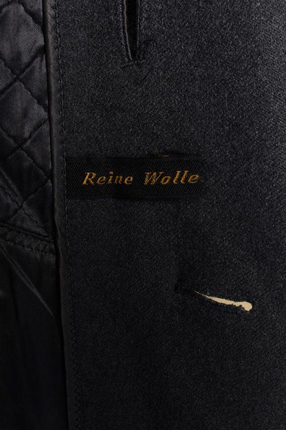 Vintage Reine Wolle Classic Jacket Coat Chest 49 Grey -C1561-116941