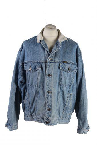 90s Retro Denim Jacket Trucker Blue XL