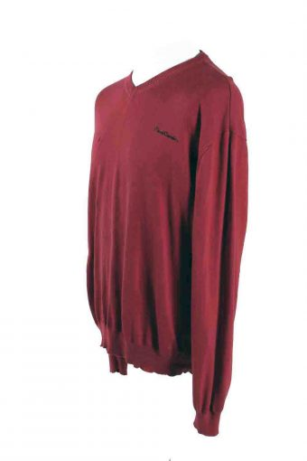 Vintage Pierre Cardin Sweater Pullover XXL Red -IL1766-116839