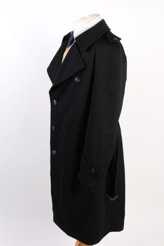 Vintage Classic Trench Coat Chest 46 Black -C1589-117197