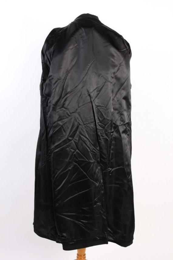 Vintage Classic Trench Coat Chest 46 Black -C1589-117199