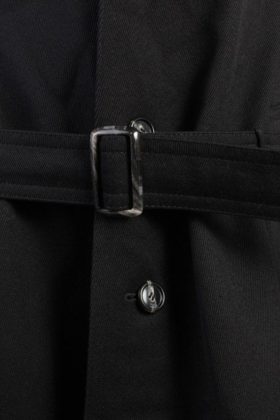 Vintage Classic Trench Coat Chest 46 Black -C1589-117200