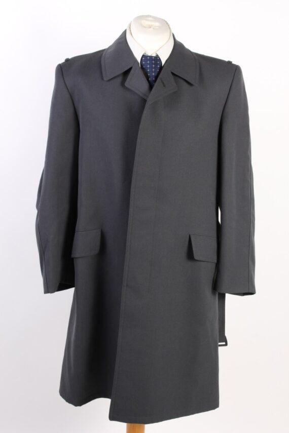 Vintage Classic Trench Coat Chest 42 Dark Grey -C1593-0