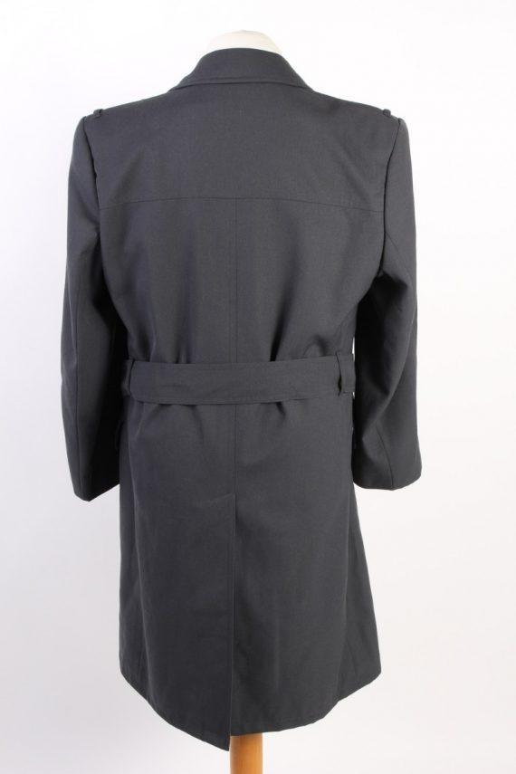 Vintage Classic Trench Coat Chest 42 Dark Grey -C1593-117193