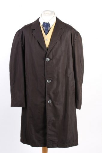 Vintage Cyclone Paris Classic Trench Coat Chest 52 Dark Brown