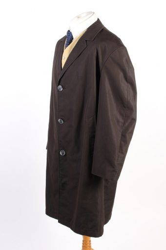Vintage Cyclone Paris Classic Trench Coat Chest 52 Dark Brown -C1594-117177